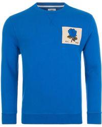 Kent & Curwen 1926 Rose Sweatshirt Ss20 - Blue