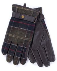 Barbour - Newbrough Gloves In Green - Lyst