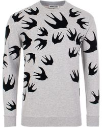 McQ Swallow Swarm Flock Sweatshirt - Multicolour