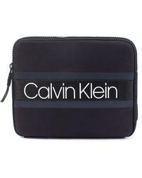 Calvin Klein Clash Ipad Sling Bag In Black