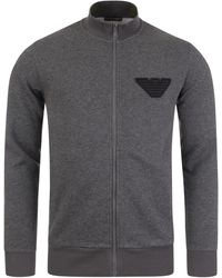 Emporio Armani Loungewear Zip Sweat - Grey