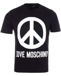 ffbeab0d2ccb0b Love Moschino Large Box T-shirt in Gray for Men - Lyst