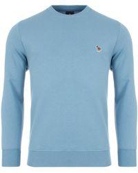 PS by Paul Smith Regular Fit Zebra Sweatshirt - Blue