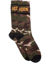 DSquared² Icon Socks In Camo - Multicolour