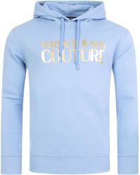 Versace Jeans Couture - Logo Foil Overhead Hoodie - Lyst