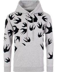 McQ Swallow Swarm Flock Hoodie - Multicolour