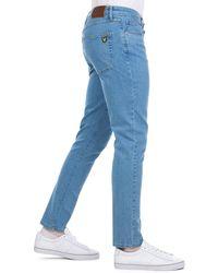 Lyle & Scott - Skinny Fit Jeans In Z365 Light Wash - Lyst