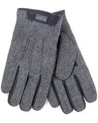 Ted Baker - Slick Gloves In Grey - Lyst