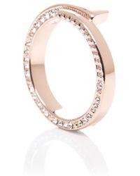 Karen Millen - Contour Crystal Ring - Lyst
