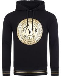 Versace Jeans Couture - Round Foil Logo Overhead Hoodie - Lyst