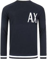 Armani Exchange Oversized Logo Sweatshirt - Blue