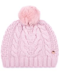 f0eea5a8e66 Ted Baker Aranhed Cable Knitted Hat in Purple - Lyst