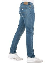 Emporio Armani Slim Fit J06 Jeans - Blue