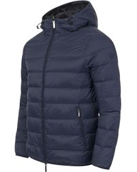 Emporio Armani Reversible Hooded Puffer Jacket - Blue