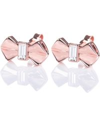 Ted Baker Susli Bow Earrings - Pink