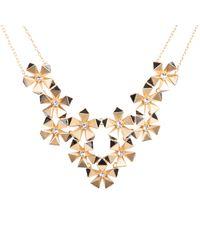 Karen Millen Geo Flower Necklace - Black