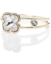 Karen Millen Art Glass Ring - Metallic