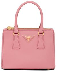 Prada Mini Galleria Saffiano Leather Satchel - Pink