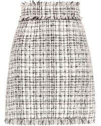 Dolce & Gabbana Tweed Straight-fit Skirt - White