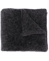 Roberto Collina Wool-blend Textured Scarf - Gray