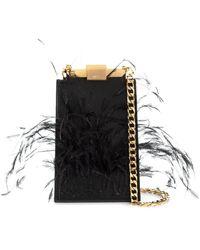 N°21 Embellished Mini Satchel Bag - Black