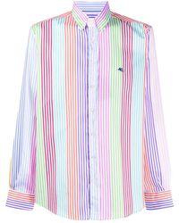 Etro Striped Button-down Shirt - Blue