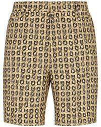 Fendi Ff Woven Shorts - Brown
