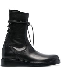 Ann Demeulemeester Wraparound Lace-up Boots - Black