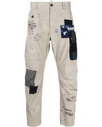 DSquared² Patch-detail Cropped Pants - Multicolor