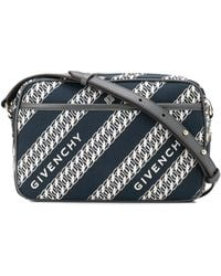Givenchy Chain Print Cross-body Bag - Blue