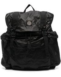 Stone Island Polyester Backpack - Black