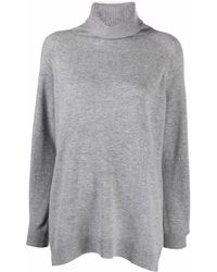 Allude Long-sleeve Roll-neck Jumper - Grey