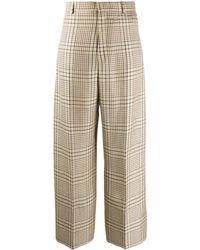 Jacquemus Le Pantalon Santon Check Trousers - Green