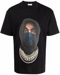 ih nom uh nit Mask Graphic-print T-shirt - Black