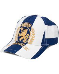 Tommy Hilfiger Crest-embroidered Striped Cap - Blue