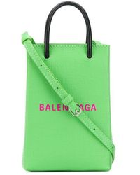 Balenciaga Shopping Phone-holder Bag - Green