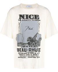 Rhude - Nice-print Cotton T-shirt - Lyst