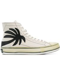 Palm Angels Palm Tree High-top Trainers - White