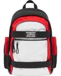 Burberry Nevis Colour-block Rucksack - Black