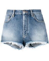 Alanui - -style Embroidered Denim Shorts - Lyst
