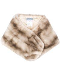Prada - Fur Bolero-style Scarf - Lyst