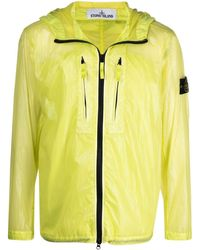 Stone Island Lucido-tc Packable Hooded Jacket - Yellow