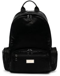 Dolce & Gabbana Backpack With Branded Tag - Black