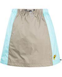 Nike Drawstring Panelled Skirt - Blue