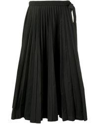 Valentino - Midi Pleated Skirt - Lyst