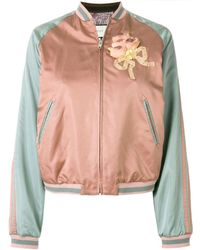 Gucci Sequin Cat Face Bomber Jacket - Pink