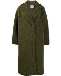 Stand Studio Faux Shearling Oversize Coat - Green