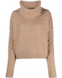 Diane von Furstenberg Cable-knit Roll-neck Sweater - Multicolour
