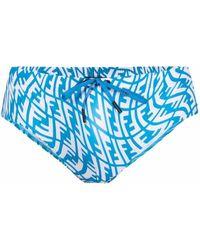Fendi Ff Vertigo Swimming Briefs - Blue