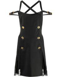 Versace Bondage Accent Dress - Black